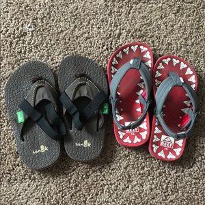Reef and sanuk toddler Sandals.